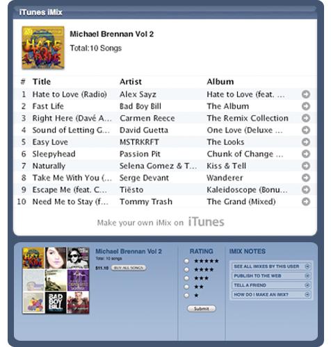 Michael Brennan iTunes iMix Vol 2